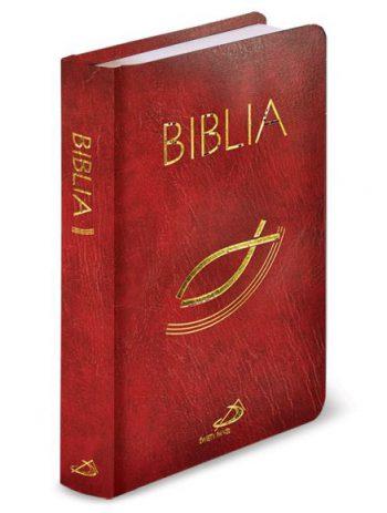 """Biblia """"z rybką"""" – prawa balacron bordowa"""